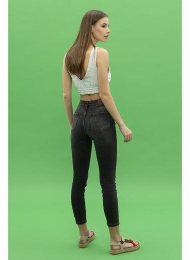 Female Project Antrasit Yüksek Bel Skinny Jeans Antrasit